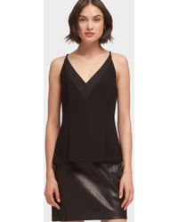 DKNY - V-neck Tank With Back Zip - Lyst