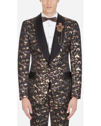 Dolce & Gabbana - Veste De Smoking En Jacquard Lurex - Lyst