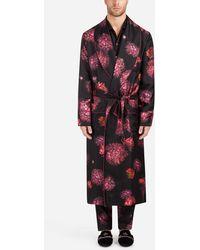 Dolce & Gabbana - Printed Silk Robe - Lyst