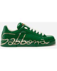 Dolce & Gabbana Zapatillas Portofino De Piel Tricolor - Verde