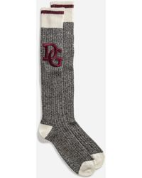 Dolce & Gabbana - Wool Socks With Patch - Lyst