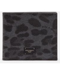 Dolce & Gabbana - Leopard Crepe Wallet - Lyst