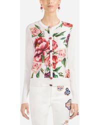 Dolce & Gabbana - Silk Cardigan - Lyst