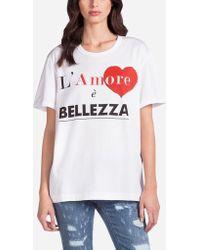 Dolce & Gabbana - L'amore È Bellezza T-shirtâ - Lyst