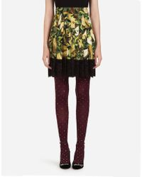 Dolce & Gabbana - Skirt In Printed Cady - Lyst