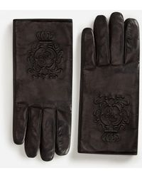 Dolce & Gabbana - Nappa Leather Gloves - Lyst