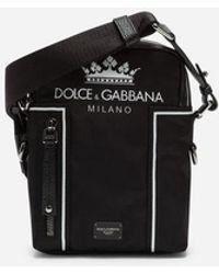 Dolce & Gabbana - Bolso De Hombro Vulcano De Nailon Estampado - Lyst