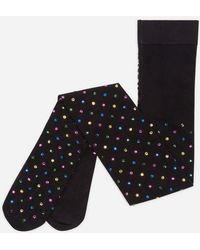 Dolce & Gabbana - Tights With Rhinestones - Lyst