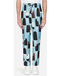 Dolce & Gabbana - Printed Silk Pajama Pants - Lyst