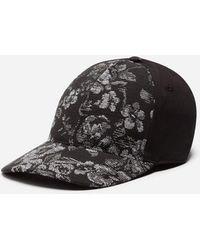 Dolce & Gabbana - Baseball Cap In Brocade And Velvet - Lyst