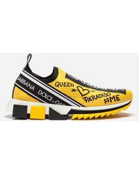 Dolce & Gabbana - Sneakers In Sorrento Graffiti Print - Lyst