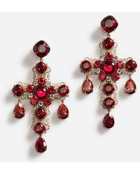 Dolce & Gabbana - Pendientes Colgantes Con Elementos Decorativos - Lyst