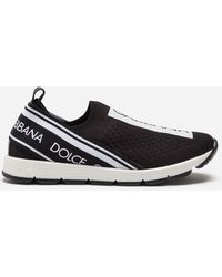 Dolce & Gabbana - Sorrento Slip-on Trainers With Logo Tape - Lyst