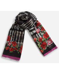 Dolce & Gabbana - Bufanda Estampada En Modal Y Cachemira 135 × 200 - Lyst