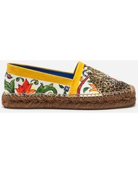 Dolce & Gabbana | Espadrilles In Printed Cotton | Lyst