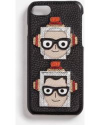 Dolce & Gabbana - Iphone 7 Cover With Patches Of The Designers - Lyst