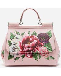 Dolce & Gabbana - Medium Sicily Bag In Printed Dauphine Calfskin - Lyst