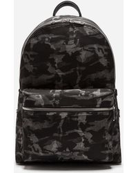 Giuseppe In Zanotti Camouflage Backpack Leather Textured Black Lyst Rq8CC