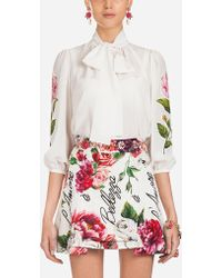 Dolce & Gabbana - Silk Blouse - Lyst