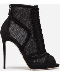 Dolce & Gabbana Tulle stiletto boots R7mU0