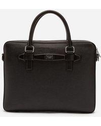 Dolce & Gabbana - Calfskin Laptop Briefcase - Lyst