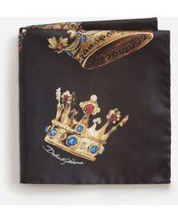 Dolce & Gabbana - Printed Silk Pocket Square - Lyst