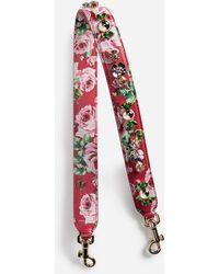 Dolce & Gabbana - Printed Dauphine Leather Shoulder Strap - Lyst