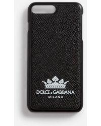 Dolce & Gabbana - Coque Iphone 7/8 Plus Avec Détail En Cuir De Veau Dauphine Imprimé - Lyst
