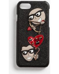 Dolce & Gabbana - Iphone 7/8 Cover In Dauphine Calfskin With Patches Of The Designers - Lyst