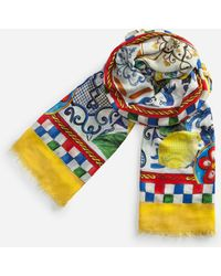 Dolce & Gabbana - Printed Modal And Cashmere Scarf (135 X 200) - Lyst