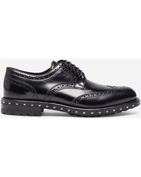 Dolce & Gabbana - Derby In Leather With Studs - Lyst