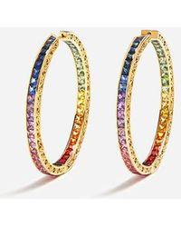 Dolce & Gabbana - Multi-colored Sapphire Hoop Earrings - Lyst