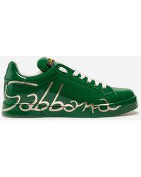 Dolce & Gabbana - Three-color Leather Portofino Sneakers - Lyst
