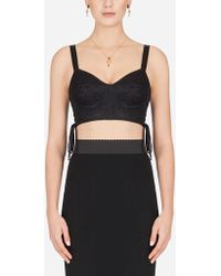 Dolce & Gabbana - Corset Top With Laces - Lyst