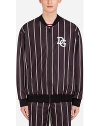 Dolce & Gabbana - Zip-up Sweatshirt With Patch - Lyst