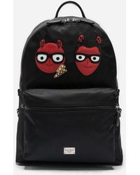 Dolce & Gabbana - Nylon Vulcano Backpack With Patches Of The Designers - Lyst