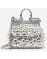 c2be75d434 Lyst - Dolce   Gabbana Medium Sicily Bag In A Mix Of Materials With ...