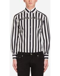 Dolce & Gabbana - Gold Fit Shirt In Printed Cotton - Lyst