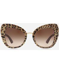 ea90c7d2d Dolce & Gabbana - Butterfly Sunglasses In Leopard Print Acetate - Lyst
