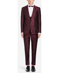 Dolce & Gabbana - Jacquard Silk Martini Suit - Lyst