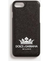 Dolce & Gabbana - Iphone 7/8 Cover In Printed Dauphine Calfskin - Lyst