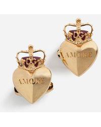 Dolce & Gabbana - Heart Cufflinks - Lyst