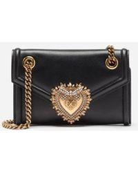 Dolce & Gabbana - Kleine Devotion Bag Aus Glattem Kalbsleder - Lyst
