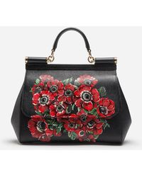 771eea6da377 Dolce   Gabbana - Medium Sicily Bag In Printed Dauphine Calfskin - Lyst