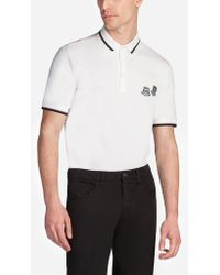 Dolce & Gabbana - Cotton Polo Shirt With Designers' Patch - Lyst