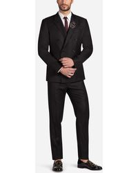 Dolce & Gabbana - Two-piece Double-breasted Wool Suit With Patch - Lyst