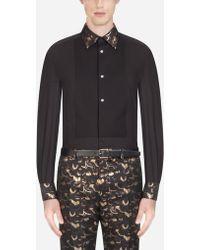 Dolce & Gabbana - Martini Fit Tuxedo Shirt In Cotton - Lyst