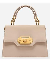 6b3616f0d015 Dolce   Gabbana - Welcome Shoulder Bag In Calfskin - Lyst