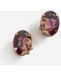 Dolce & Gabbana - Pendientes Con Elementos Decorativos - Lyst