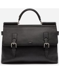 2149f527e3cf Dolce   Gabbana - Sicily Work Bag In Calfskin - Lyst